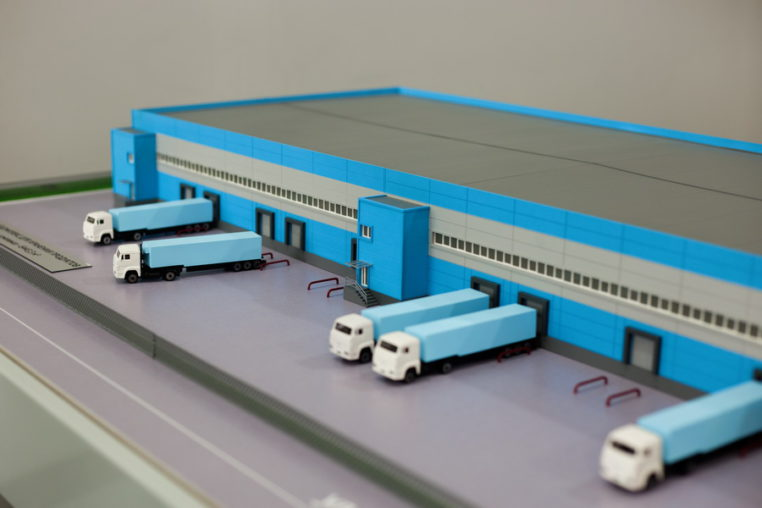 Макет складского комплекса по хранению продуктов