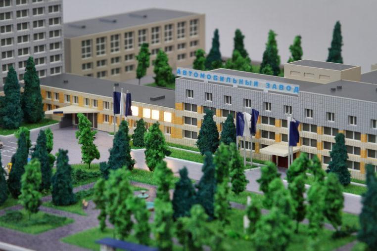 Макет завода ГАЗ