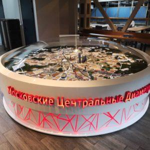 Интерактивный макет Московских Центральных Диаметров